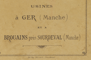 Catalogue Usines à Ger et à Brouains